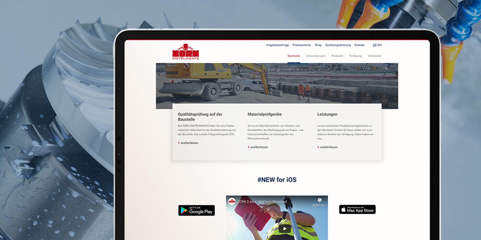 Handwerker-Webseite